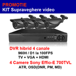 kit supraveghere video 4 camere