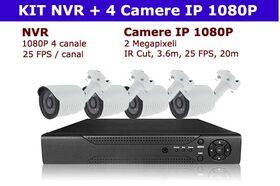 kit supraveghere exterior camere IP 2 megapixel