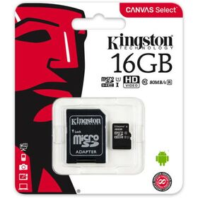 Kingston MicroSDHC 16GB Class 10 SDCS/16GB